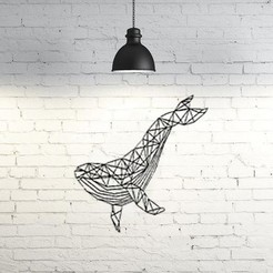 Modelos 3D Orca Escultura de Pared 2D , UnpredictableLab