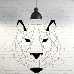 Download 3D printer model Tiger Wall Sculpture 2D, UnpredictableLab