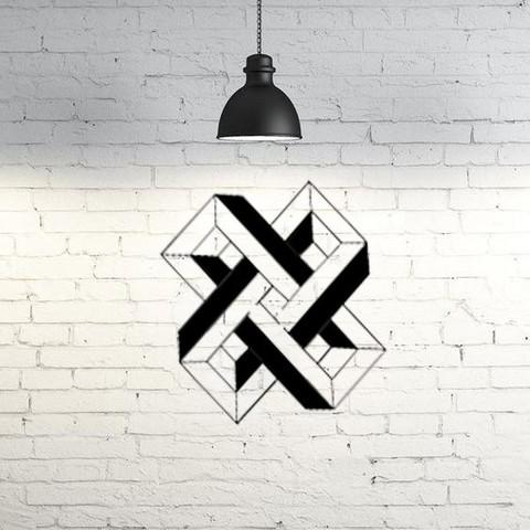 3D print model Optical Illusion Cross, UnpredictableLab