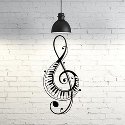 STL file Music Notes II wall sculpture 2D, UnpredictableLab