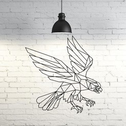 Modelos 3D para imprimir Eagle flying II wall sculpture 2D, UnpredictableLab