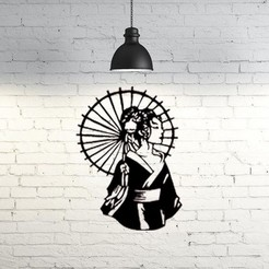 Download free 3D printing files Geisha wall sculpture 2D, UnpredictableLab