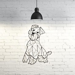 Download free 3D print files Scottie dog wall sculpture 2D, UnpredictableLab