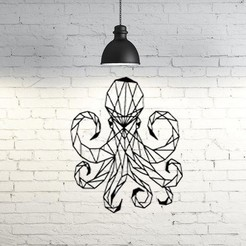 Free 3D printer model Octopus wall Sculpture 2D, UnpredictableLab