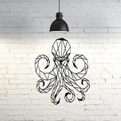 Imprimir en 3D gratis Octopus wall Sculpture 2D, UnpredictableLab