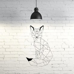 Free 3D printer files Fox II wall sculpture 2D, UnpredictableLab