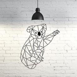 Descargar archivos 3D Koala wall sculpture 2D, UnpredictableLab