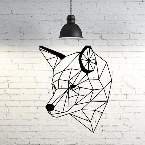 3D printer files Wolf IV wall sculpture 2D, UnpredictableLab
