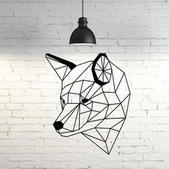 26.Wolf IV.JPG Télécharger fichier STL Wolf IV sculpture murale 2D • Plan imprimable en 3D, UnpredictableLab
