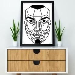 Free 3D printer files Face wall Sculpture 2D, UnpredictableLab