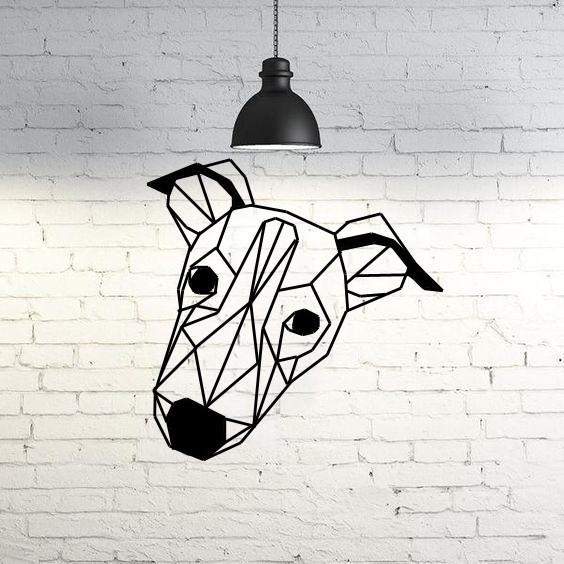 d9bc63ca0dbfd17b5d9e220a8208459d_display_large.jpg Télécharger fichier STL gratuit Bowie I Greyhound Dog Wall Sculpture 2D • Plan à imprimer en 3D, UnpredictableLab