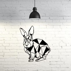 STL file bunny wall sculpture 2D, UnpredictableLab