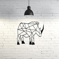 Descargar archivos 3D Rhino Wall Sculpture 2D, UnpredictableLab