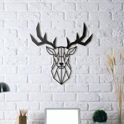 Free 3D printer designs Deer Wall Sculpture 2D II, UnpredictableLab
