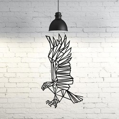 Download STL files Eagle flying III wall sculpture 2D, UnpredictableLab