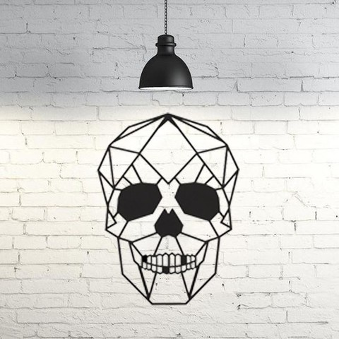 11.skull.jpg Download STL file Skull Wall Sculpture 2D • Model to 3D print, UnpredictableLab