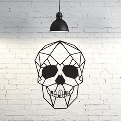 11.skull.jpg Download STL file Skull Wall Sculpture 2D • Model to 3D print, UnpredictableLab