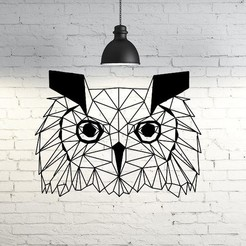 50.Owlwild.jpg Download STL file Wild Owl Wall Sculpture 2D • Object to 3D print, UnpredictableLab