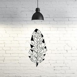 Download free 3D printer designs Leaf  wall sculpture 2D, UnpredictableLab