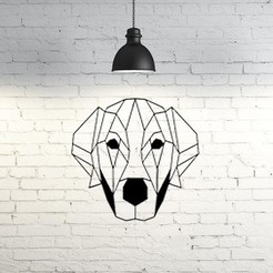 Free 3D print files Labrador dog wall sculpture 2D, UnpredictableLab