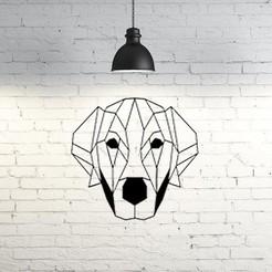 Download free 3D printing files Labrador dog wall sculpture 2D, UnpredictableLab