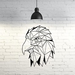 3D printing model Eagle Wall Sculpture 2D, UnpredictableLab