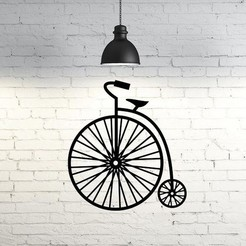 Download free 3D printer model Velocipede I Old Bicycle wall sculpture 2D, UnpredictableLab