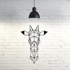 Diseños 3D Giraffe Wall Sculpture 2D, UnpredictableLab