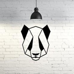 Diseños 3D gratis Panda Wall Sculpture 2D, UnpredictableLab