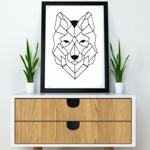 13.wolf (2).jpg Download free STL file Wolf Wall Sculpture 2D • Design to 3D print, UnpredictableLab