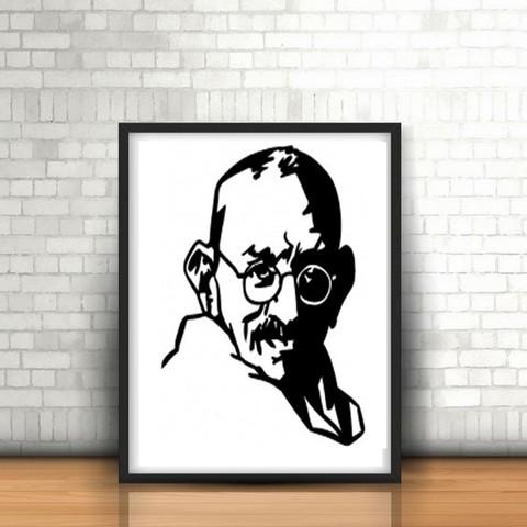 Imprimir en 3D Gandhi wall sculpture 2D, UnpredictableLab
