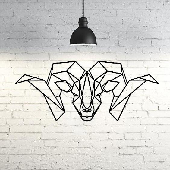 fondo1.jpg Download STL file Goat Wall Sculpture 2D • 3D printer object, UnpredictableLab