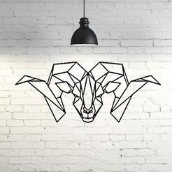 STL files Goat Wall Sculpture 2D, UnpredictableLab