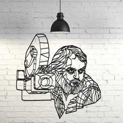Download 3D printing files Stanley Kubrick Wall Sculpture 2D, UnpredictableLab