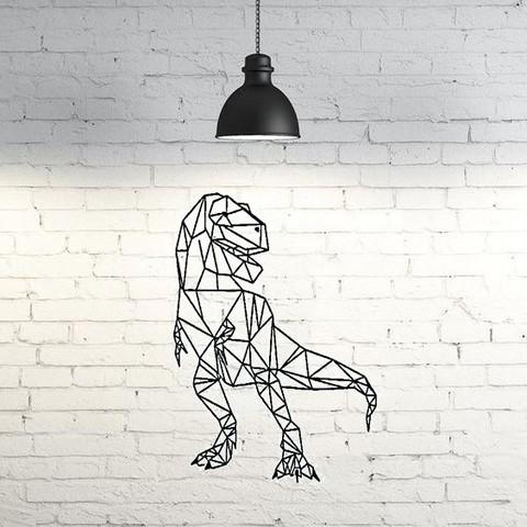 Download free 3D printer templates T-Rex Wall Sculpture 2D, UnpredictableLab