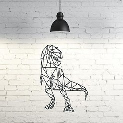 Download free 3D printer templates T-Rex Wall Sculpture 2D, UnpredictableLab