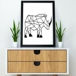 3D print model Rhino Wall Sculpture 2D, UnpredictableLab