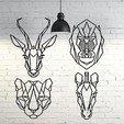 fondo.jpg Télécharger fichier STL Pack animaux 2D sculpture murale • Design pour imprimante 3D, UnpredictableLab