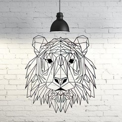 Archivos 3D Tiger III Wall Sculpture 2D, UnpredictableLab