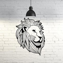 Download 3D model Lion face II wall sculpture, UnpredictableLab