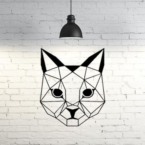 Impresiones 3D Cat Wall Sculpture 2D II, UnpredictableLab