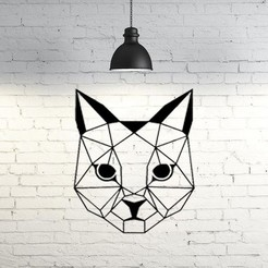 50.Catface.jpg Download STL file Cat Wall Sculpture 2D II • Object to 3D print, UnpredictableLab