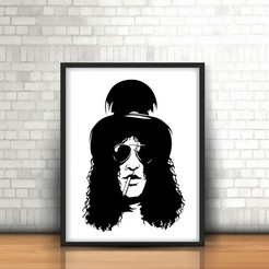 Impresiones 3D Slash I Guns and Roses wall sculpture 2D, UnpredictableLab