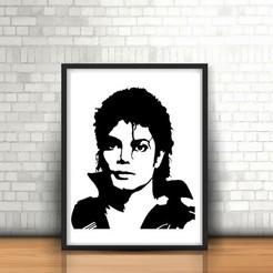 Fichier imprimante 3D Michael Jackson II Sculpture murale 2D, UnpredictableLab