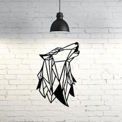 Download 3D printer templates Wolf Wall Sculpture 2D II, UnpredictableLab