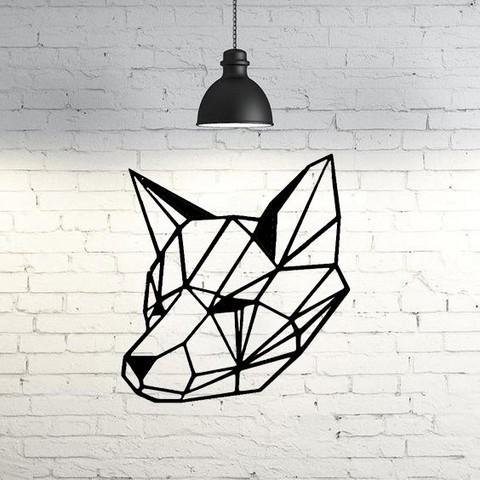 3D printing model Foxy wall sculpture 2D, UnpredictableLab