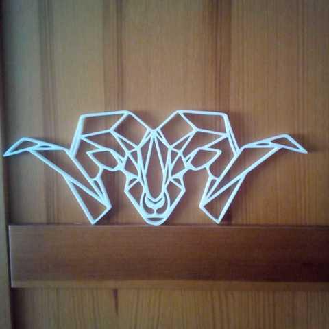 WhatsApp Image 2018-10-07 at 12.08.28 (1).jpeg Download STL file Goat Wall Sculpture 2D • 3D printer object, UnpredictableLab