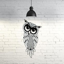 Download 3D printing templates Owl III Wall Sculpture 2D, UnpredictableLab