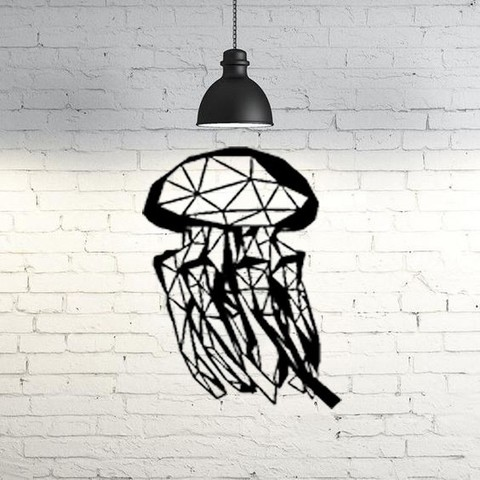 Fichier imprimante 3D gratuit Sculpture murale de méduses 2D, UnpredictableLab