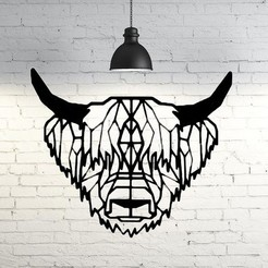 Free 3D model Bison Wall Sculpture 2D, UnpredictableLab